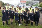 sod cutting at Enniskillen IPS