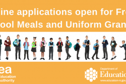 Online applications open for free school meals and uniform grants