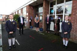 Minister Peter Weir announces Engage programme on visit to Dungannon PS