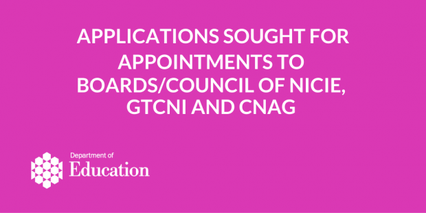 Applications sought for public appointments.