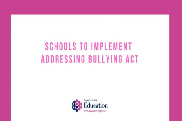 Schools to implement Addressing Bullying Act