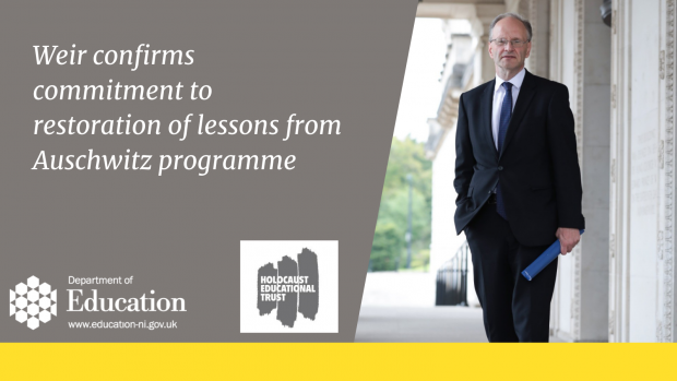 Weir confirms commitment to restoration of lessons from Auschwitz programme