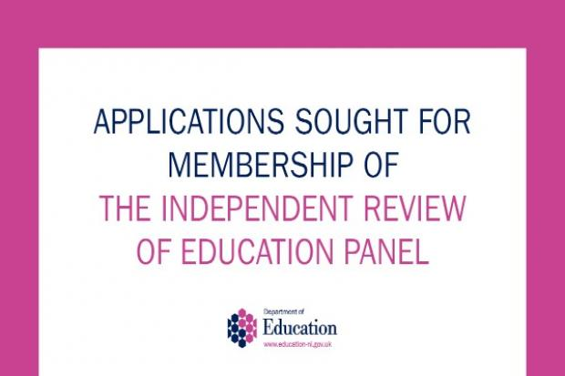 Applications sought for membership of the Independent review of Education Panel