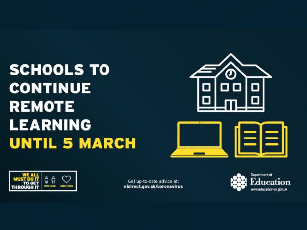 Schools to continue remote learning until March
