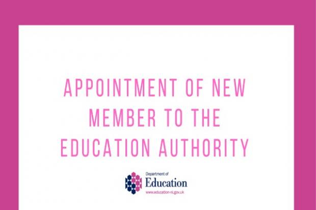 new appointment to Education Authority